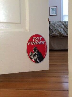 5 TOT-FINDER Window Sticker Door decal child safety Fire Protection vintage old