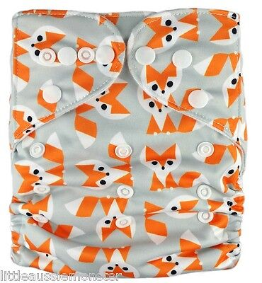 New Reusable Modern Cloth Nappy (MCN) + FREE insert – Foxy