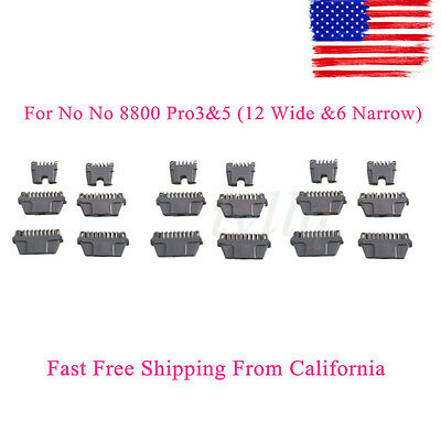 New 18 Thermicon Replacement Tips for No No 8800 Pro3&5 (12 Wide &6 Narrow) US
