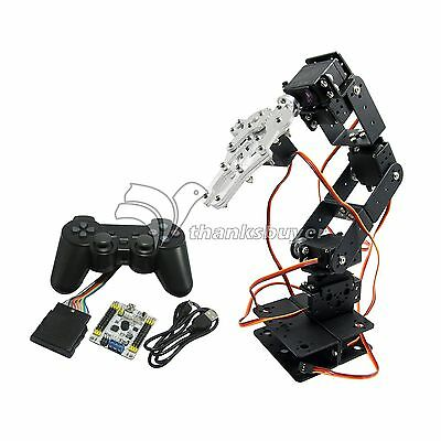 Assembled 6DOF Robot Arm Mechanical Robotic Clamp Claw with Servos & Controller