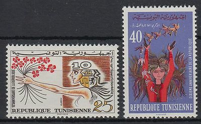 Tunesien Tunisienne 1967 ** Mi.679/80 Republik Republic Mädchen Girl [st0311]