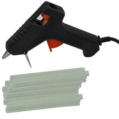 Electric Heating Hot Melt Glue Gun with 10 Mini Clear Glue Sticks for Arts Craft