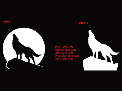 Howling Wolf at the Full Moon Car Window Boat Sticker Vinyl Decal