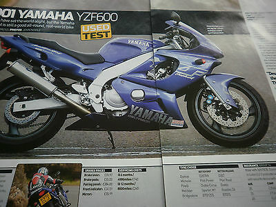 Yamaha Yzf600 Thundercat 2001 # 3 Page Used Bike Original Motorcycle Article