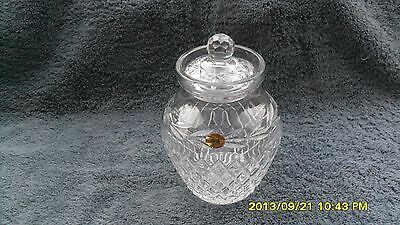 Tyrone cut crystal lidded jar hand made in Ireland 4.25 in. tall