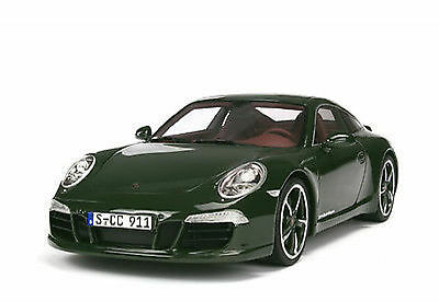 Genuine GT Spirit Porsche 911 991 Carrera S Club Coupe 2013 Green Model Car 1:18