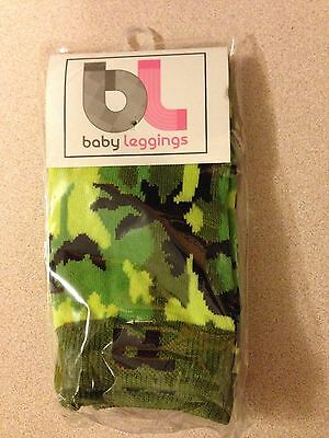 Baby Leggings 2 Pairs Socks Crawling Potty Training Infant Camo Flames NEW