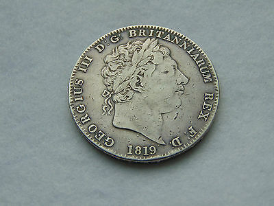 1819 George IV silver crown. LIX (C213)