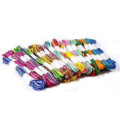 40 x SKEINS COLOURED EMBROIDERY THREAD Cotton Sewing Cross Stitch/Braiding/Craft