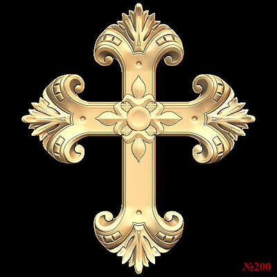 (200) STL Model Religion Cross for CNC Router 3D Printer Artcam Bas Relief Cut3d