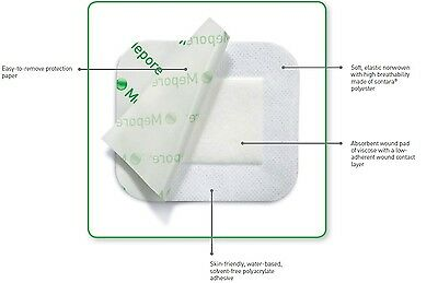 Mepore Sterile Absorbent Dressing(s) 9 x 25cm - Wounds Cuts Tattoos 671200