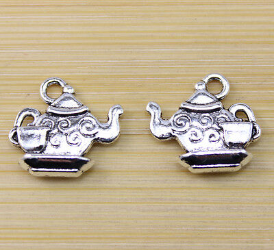 20/50/100 pcs Retro style Very beautiful teapot alloy charm pendant  15x14 mm
