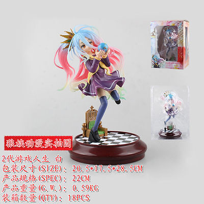 Anime No Game No Life Imanity Shiro 1/7 Scale Painted PVC Figure Toy Gifts