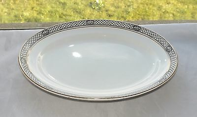 Pountney & Co Bristol Ware Scale Pattern Black and White Serving Platter c1920s