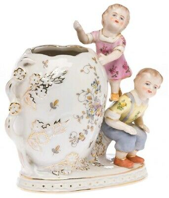 Nostalgia porcelain vase tin cup child figure sculpture antique style porcelain