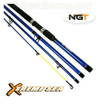 NGT X-treme Sea - 9ft, 4pc Travel Rod - Portable Sea Fishing Rod for Holiday