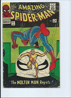 Amazing Spider-Man 35 - Vg 4.0 - 2Nd Appearance Of The Molten Man (1966)