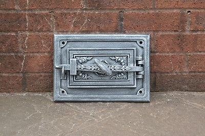 32.7 x 23 cm cast iron fire door clay bread oven doors / pizza stove smoke house