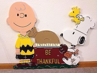 All Items Made to Order Chuck SnoopyTurkey Thanksgiving Yard Art Decoration