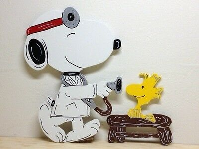 Doctor Snoopy and Patient Woodstock not Christmas Yard Art Decoration