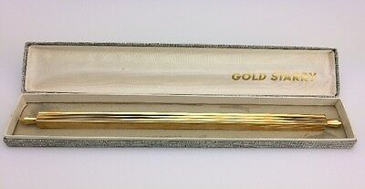 Rare Style Antique Gold Starry French Pen / Letter Opener Gold Plated