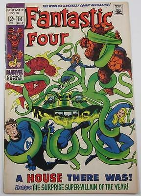 Fantastic Four Comic #88 July 1969 Mole Man  Vf To  Vf/Nm 8.5