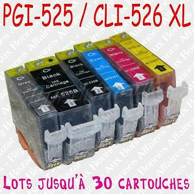 Cartouches d'encre compatibles non OEM Canon Pixma MG5100 MG5120 MG5150 MG5170