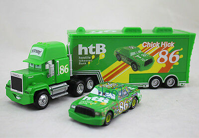 Disney Pixar NO.86 Chick Hicks Hauler Mack Truck & Diecast Metal 1:55 Car Toy