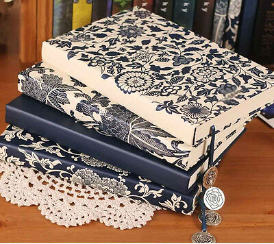 """""""Blue&White Porcelain"""" Classic Luxury Lines Diary Vintage Planner Journal Gift"""