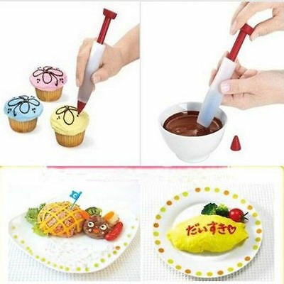 Silicone Cake Syringe Pen Cookie Cake Cupcake Pastry Plate DIY Decorating Tools