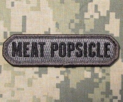 Meat Popsicle Tactical Usa Army Combat Military Morale Badge Acu Hook Patch