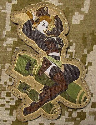 Death From Above Bomber Girl Pinup Air Force B29 Pilot Arid Hook Patch