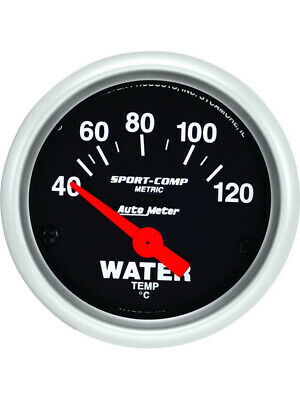 Autometer Sport-Comp Series Water Temperature Gauge (Au3337-M)