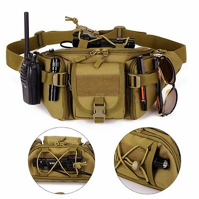Tactical Outdoor Waist Pack Pouch Military Hiking Sports Travel Camping SP Bag