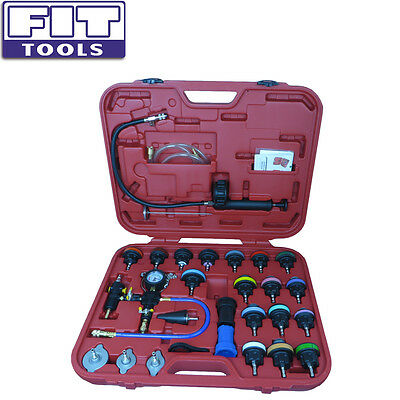FIT TOOLS Cooling System Leakage Tester and Vacuum Type Coolant Refill Kit 28pc