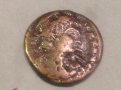 Authentic small ancient Roman Emperor? w/ victory on? back coin good detail Z11