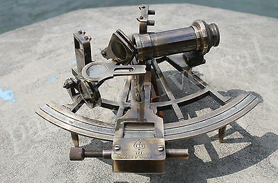 Nautical Sextant (Henry Barrow & Co London) Vintage Astrolabe ship Navigation 8""