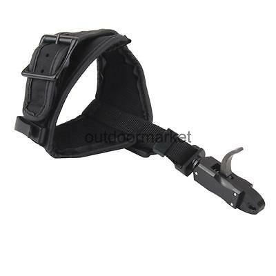 Adjustable Archery Compound Bow Release Aid Strap Arrow Target Hunting Black