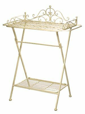 Butlers tray trolley garden side table iron