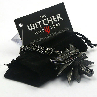 The Witcher Wild Hunt III Necklace Wolf Medallion 3 Pendant Of Geralt !