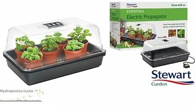 Stewart Essentials Heated Electric Plant Seed Propagator Hydroponics 38cm 52cm