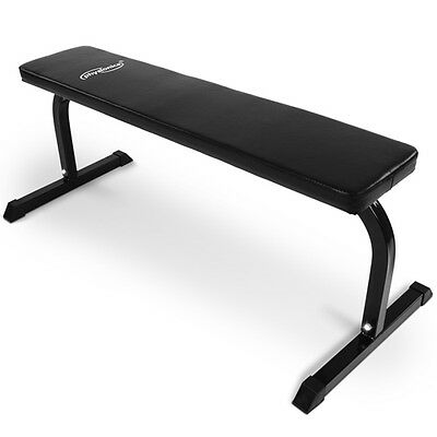 Flat Weight Bench Chest Press Workout Fitness Home Gym Dumbbell Weightlifting