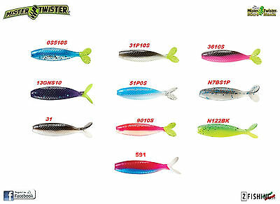Shad Esca Siliconica pesca spinning Mister Twister trota rockfishing stickbait
