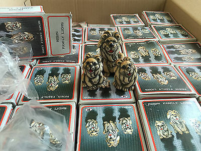 wholesale joblot of 103 set of 3 resin family lions