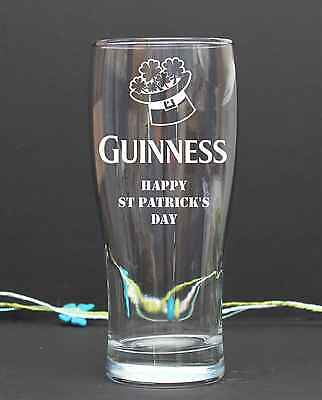Personalised Engraved pint/tulip  Happy St Patrik's Day GUINESS present 57