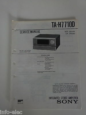 Schema SONY - Service Manual Integrated Stereo Amplifier TA-H7710D TAH7710D