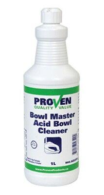 Proven Bowlmaster High Acid Bowl Cleaner 1L - For Lab, Home, & Industrial Use