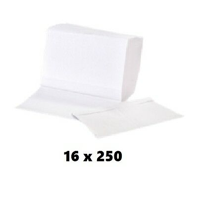eVolv Elite White Multifold Towel 16 Pack of 250 Pcs - For Lab & Industrial Use