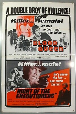 Blood Queen & Night Of The Executioners - Original American 1Sht Movie Poster