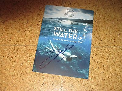 Naomi Kawase STILL THE WATER handsigned IN PERSON Pressbook CANNES